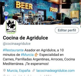 configurar perfil twitter