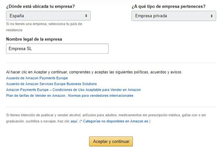 Crear una cuenta de vendedor en Amazon