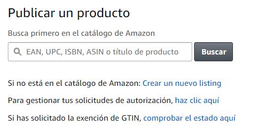 dar de alta producto en Amazon