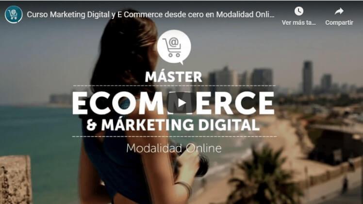 Máster ecommerce y marketing digital online