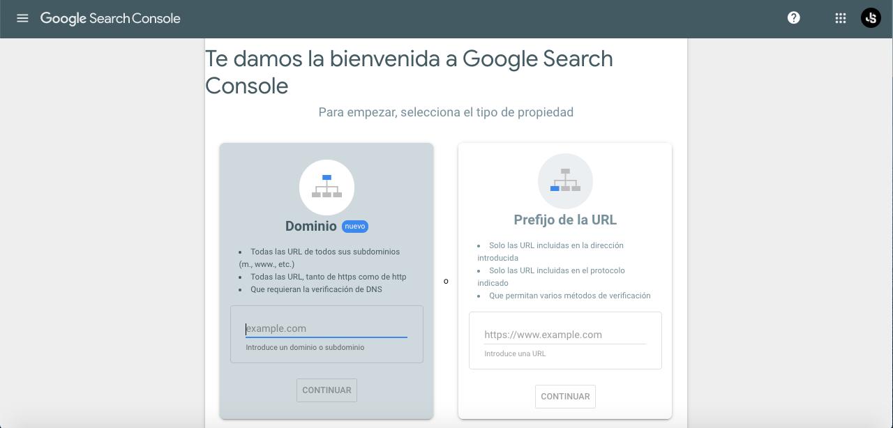 como subir web a Google Search Console