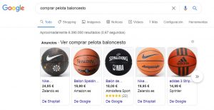 Google Shopping SERP
